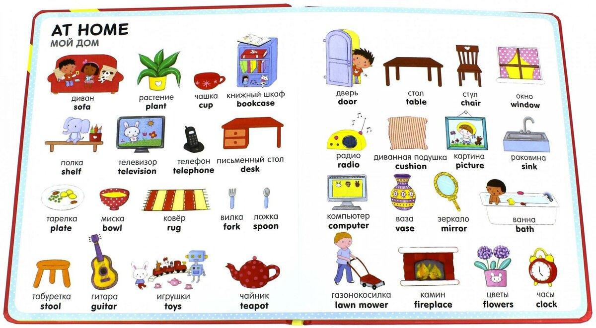 картинки для английского предметы дома нравилось