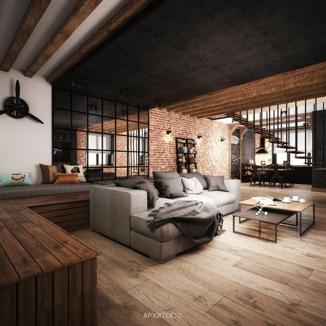Дизайн дома в стиле лофт фото