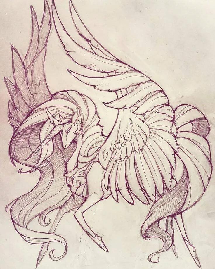 Мифические картинки для рисования