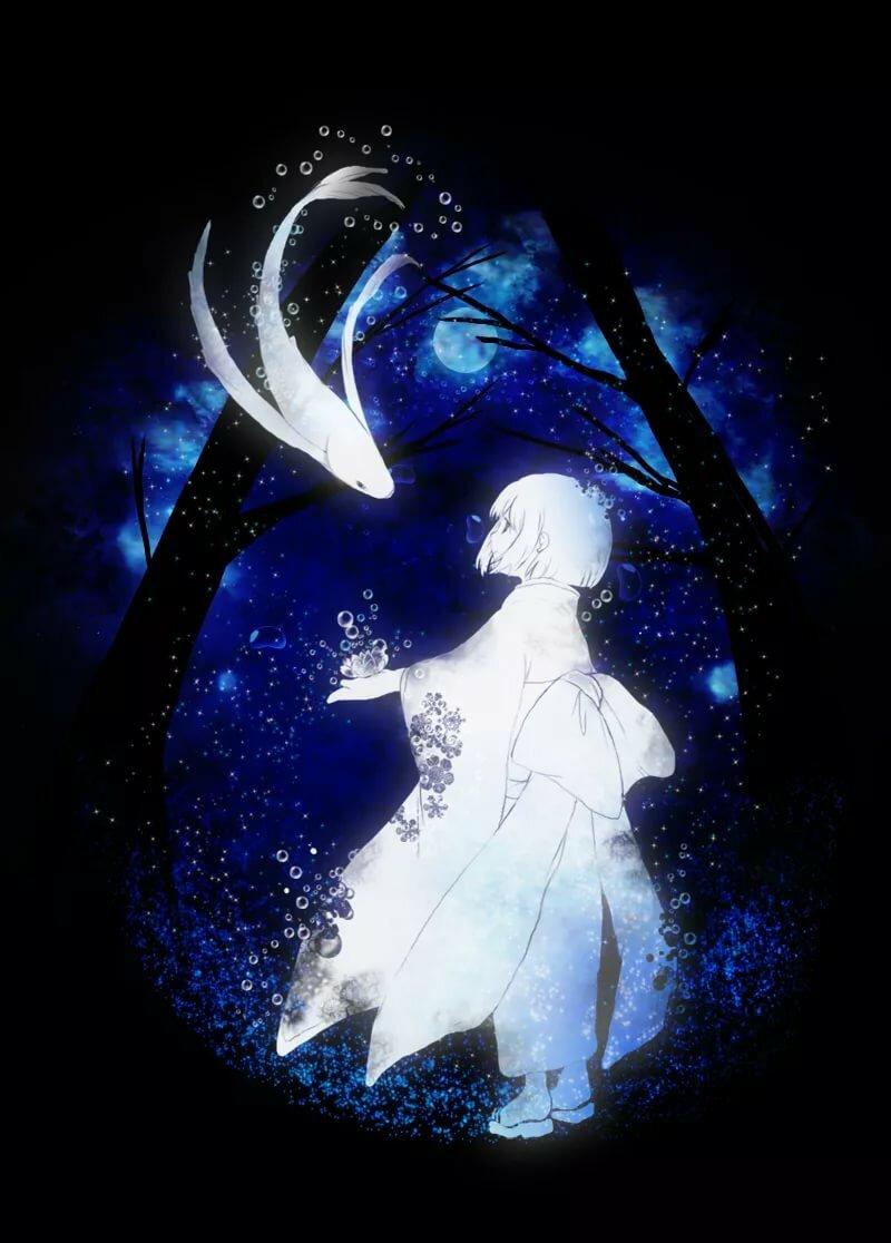 Картинки аниме духи девушки