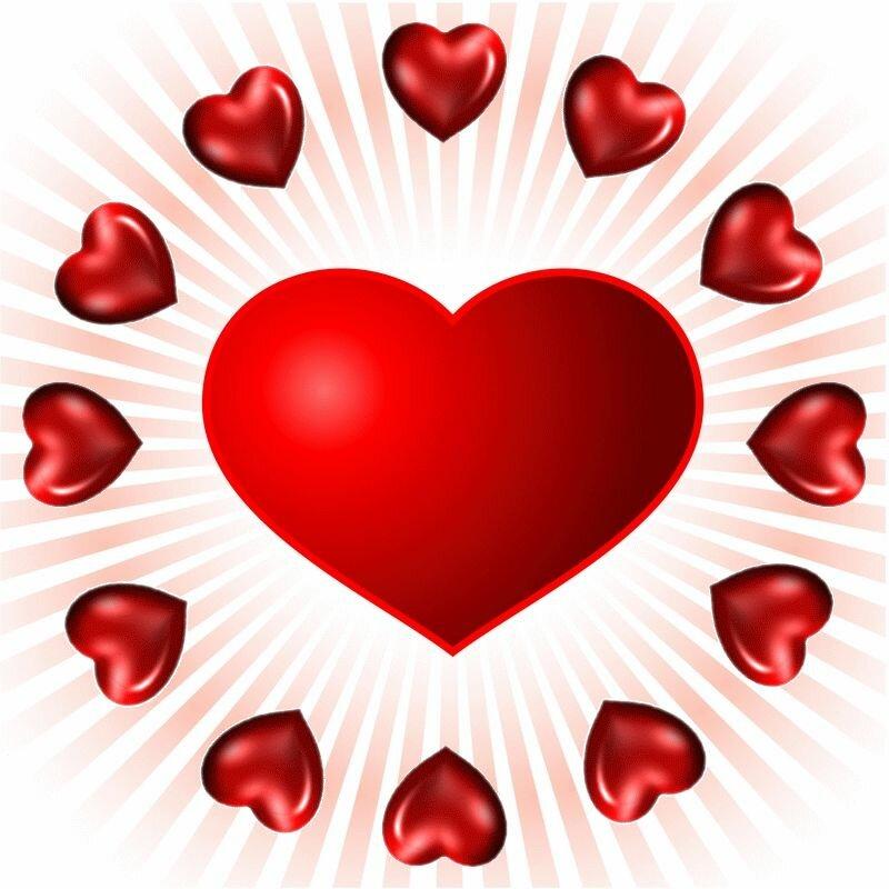 Анимированные картинки с сердечками