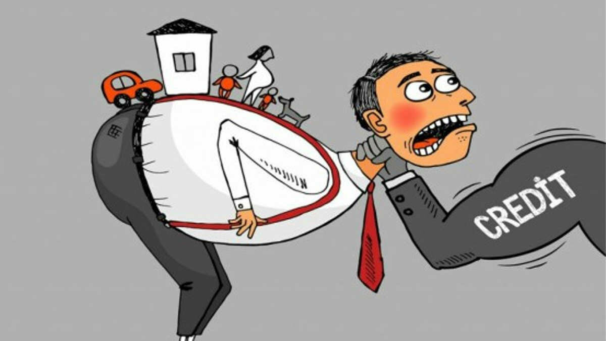 Смешная картинка про кредит