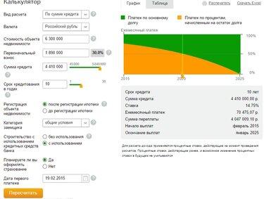 сбербанк расчет кредита онлайн калькулятор 2020 ипотека