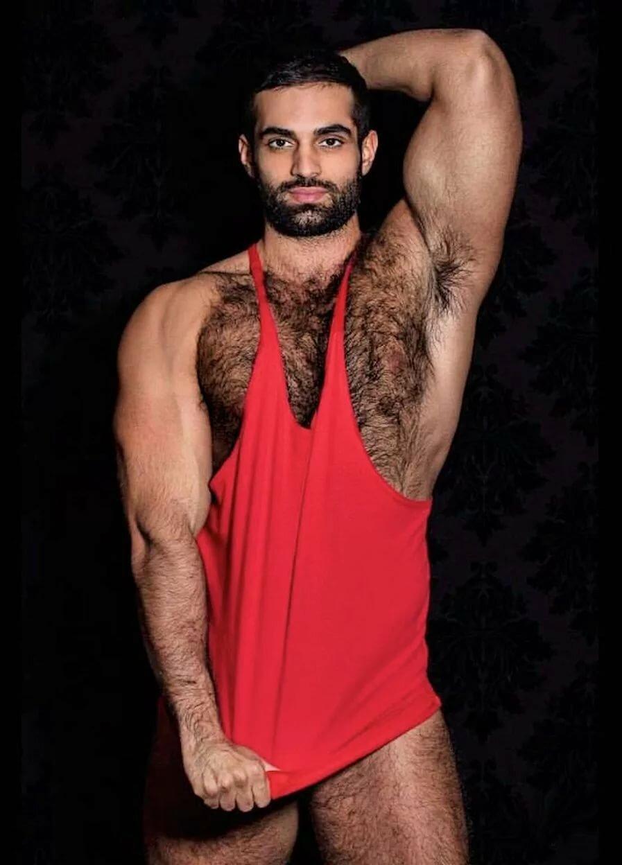 Hairy male escort