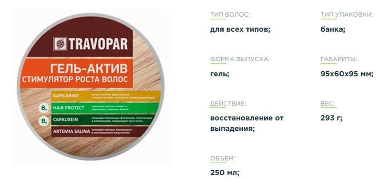 Активатор роста волос Travopar в Казани