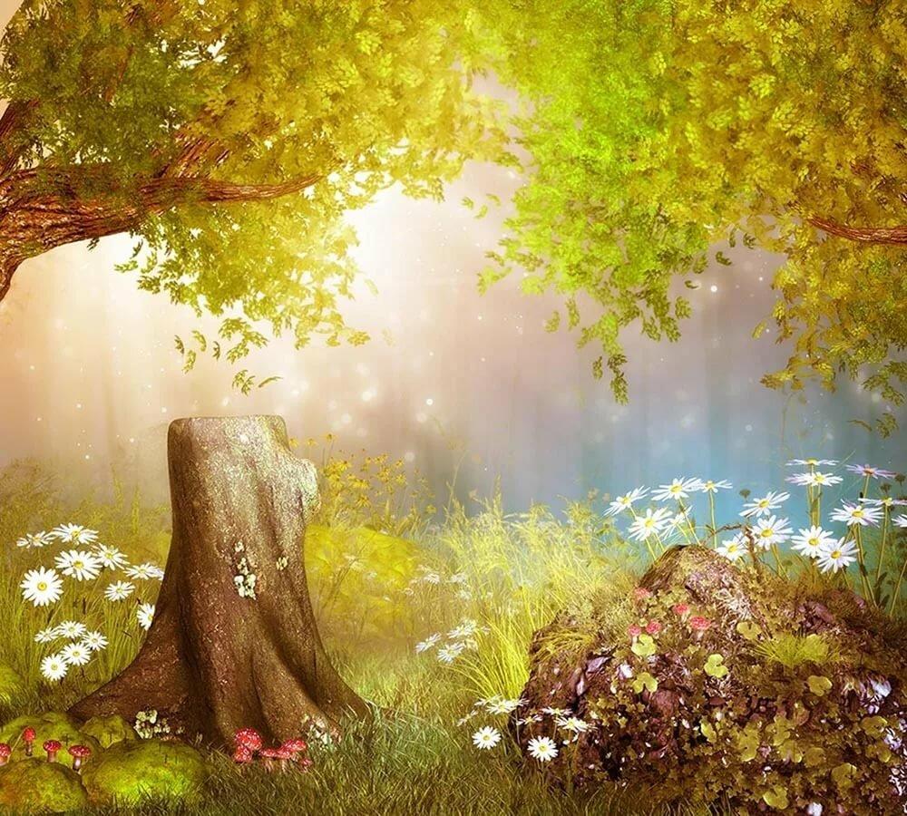 Сказочные феи и гномы картинки дерево, багряник