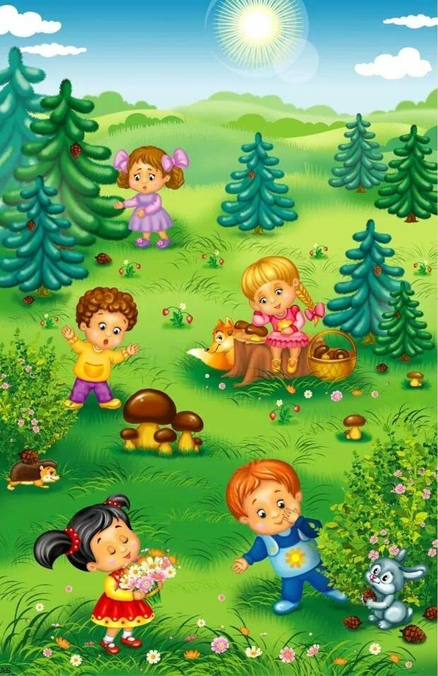 Картинки мы гуляем в детском саду