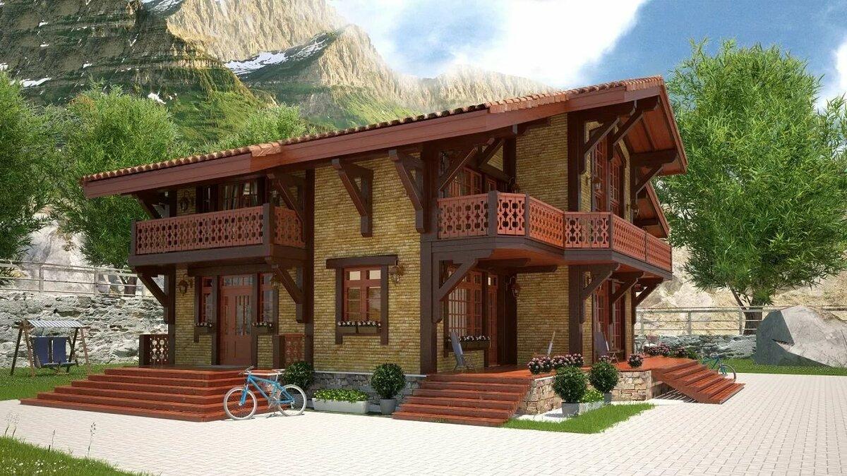 картинки домов с крышей шале экземпляр