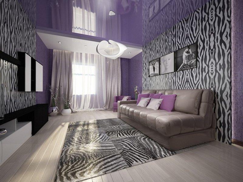 Дизайн обоев комбинированные стиль зебра