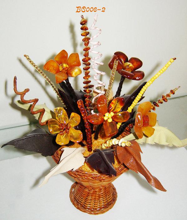 Цветы из янтаря купить