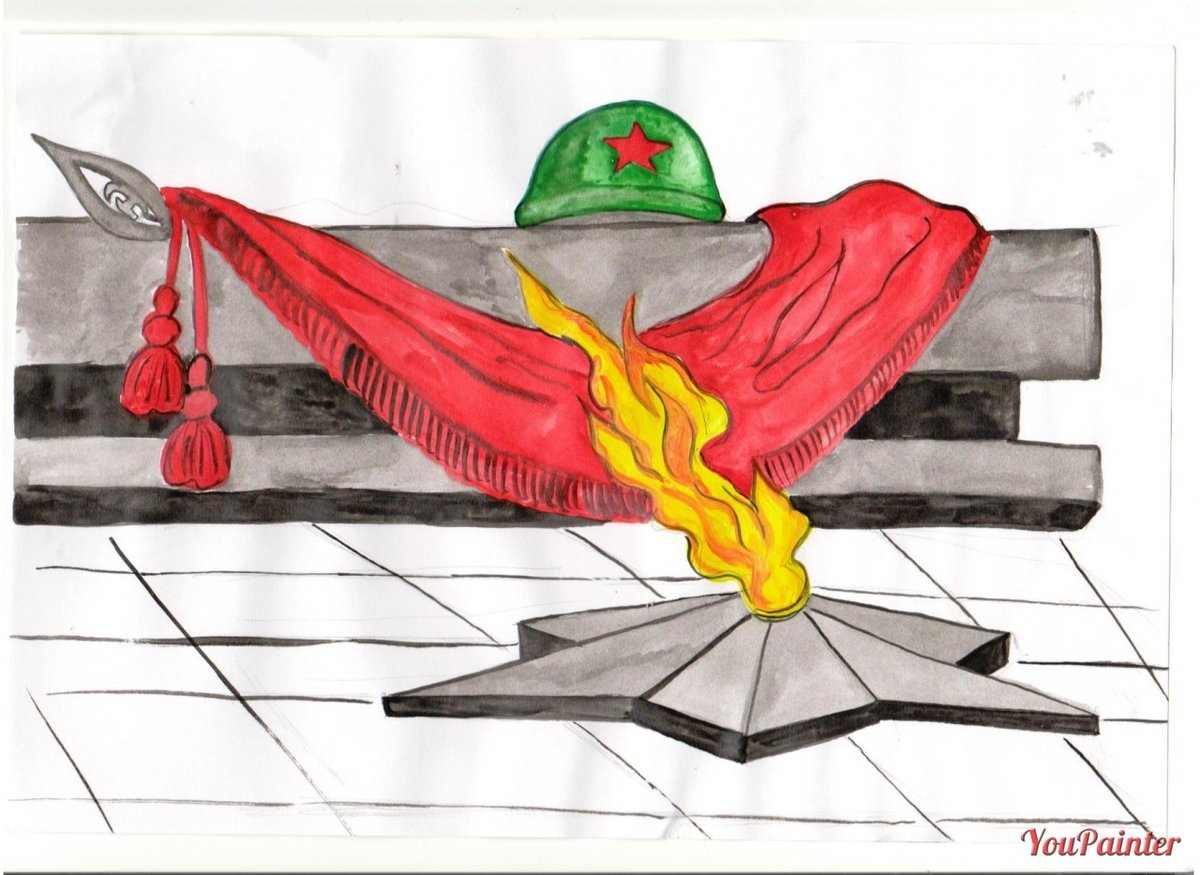 Нарисовать рисунок ко дню победы