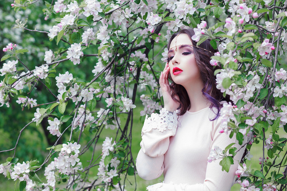 цветущие яблони фотосессия статусы подписи