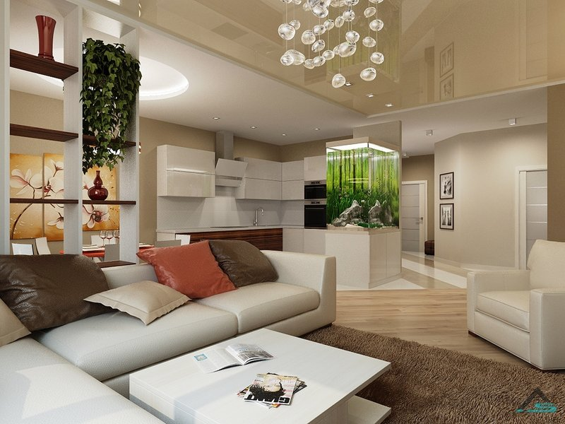 Дизайн интерьера квартиры студии от профессионалов.