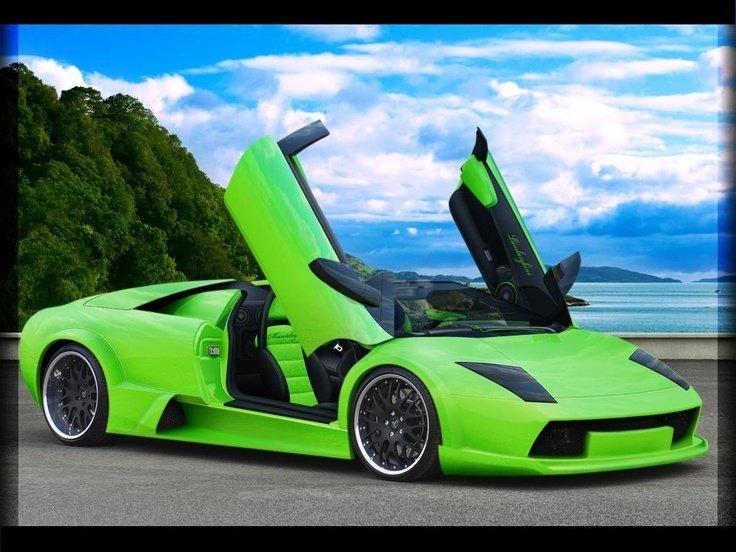 Cool Cars Lamborghini Neon Green Aventador Wallp
