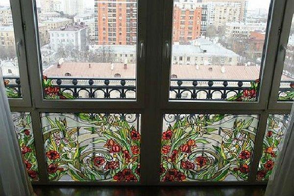 Французское остекление на балкон.