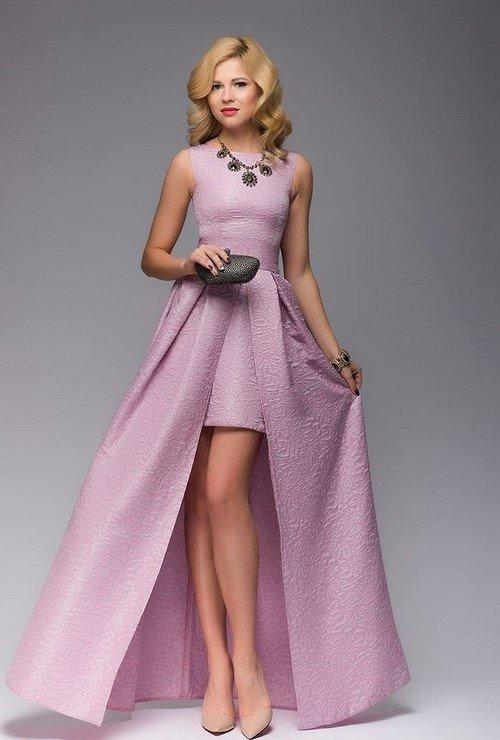 Розовые платья 2017 фото