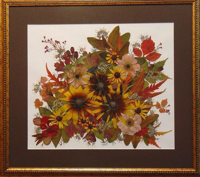 Букет невесты, композиции из сухих цветов и листьев