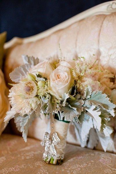 Пастельные оттенки свадебного букета