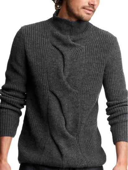 вводить стильный мужской свитер спицами год уже близко