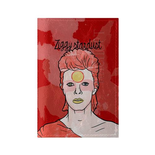 Обложка для паспорта глянцевая кожа Ziggy Stardust
