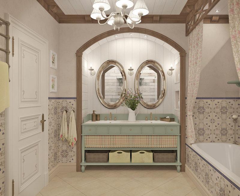Ванная в стиле прованс полюбилась из-за своей бесхитростности, возможности удачно соединять старину с современностью и создавать общее ощущение радости.
