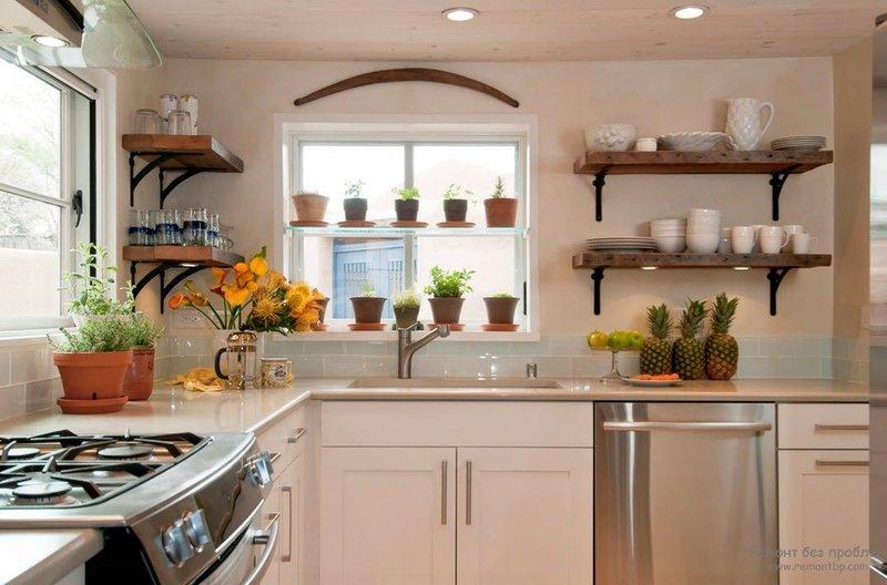 изюминка вашего дома=кухня с комнатными растениями в горшках