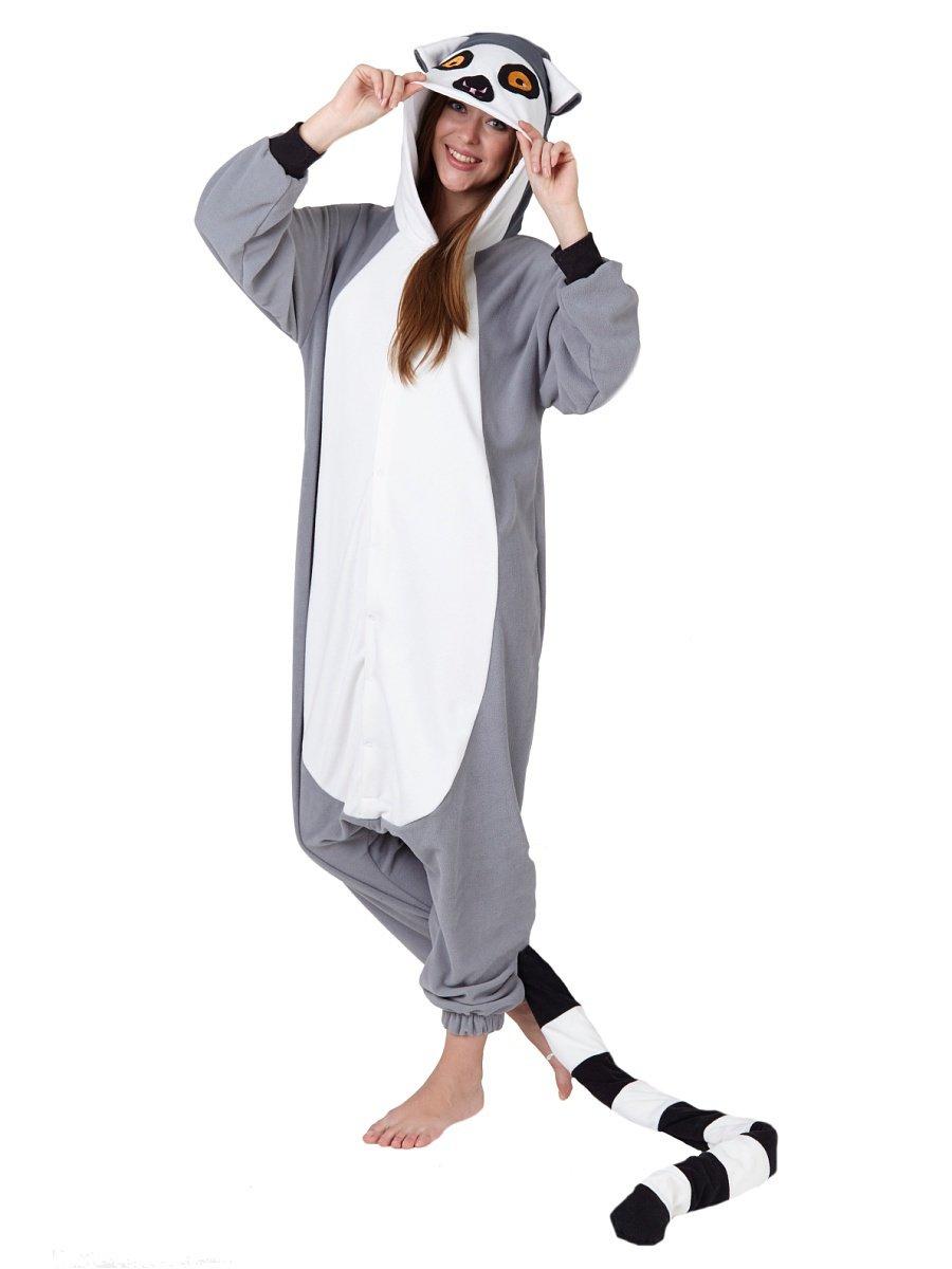 Пижама-комбинезон кигуруми Лемур» — карточка пользователя savskina ... 8b1e607b0ed34