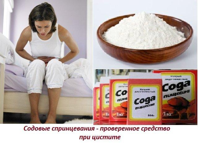 Народное средство от цистита у женщин сода, пользуется особой ...