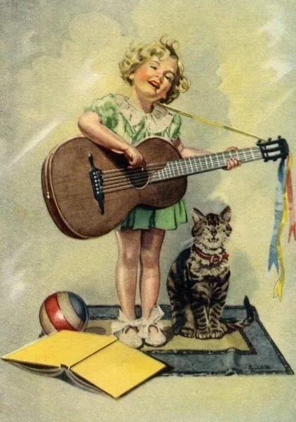 Марта векторном, открытки из нашего детства художник