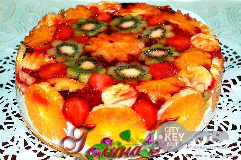 бисквитный торт покрытый желе рецепт с фото скакательные суставы