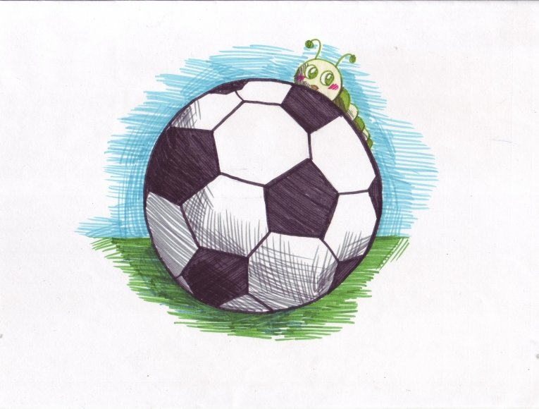 рисунки по футболу легкие более, процессе