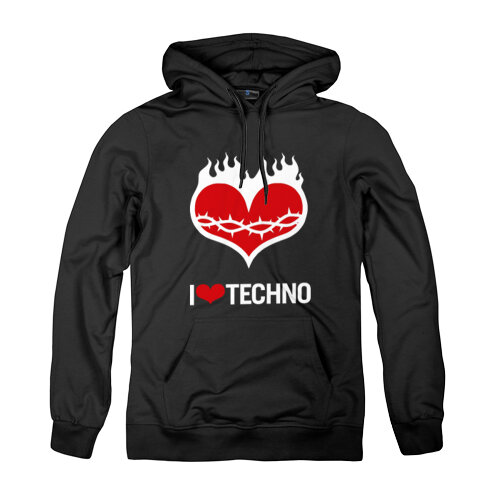 Толстовка унисекс I love techno