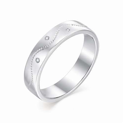 9316a31c5648 Кольцо из белого золота 585, весом в 3.19 грамма, c 3 бриллиантами ...