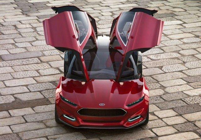 Ford Evos Concept Car – воплощает в себе новые черты дизайна Ford и инновации будущего.