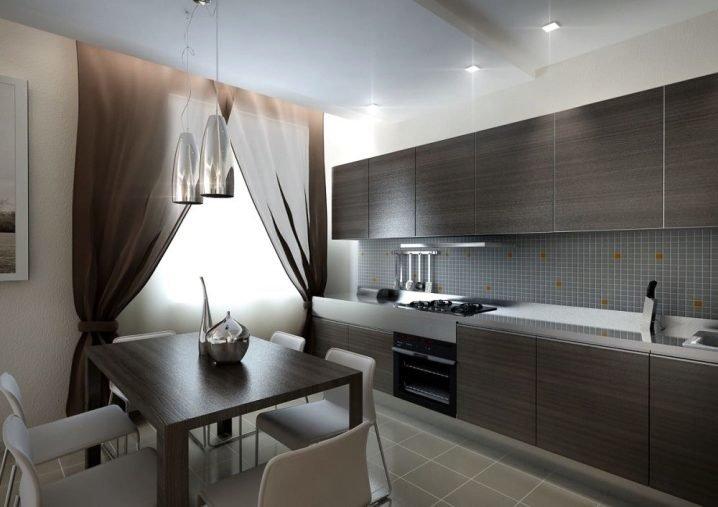 кухня в холодных тонах фото