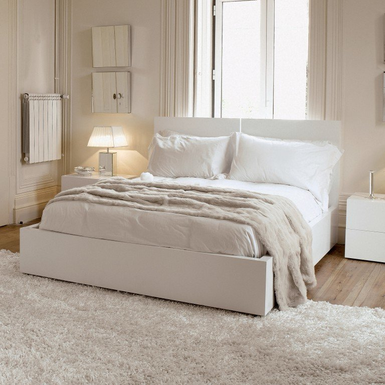 спальня в белом цвете дизайн фото львове много