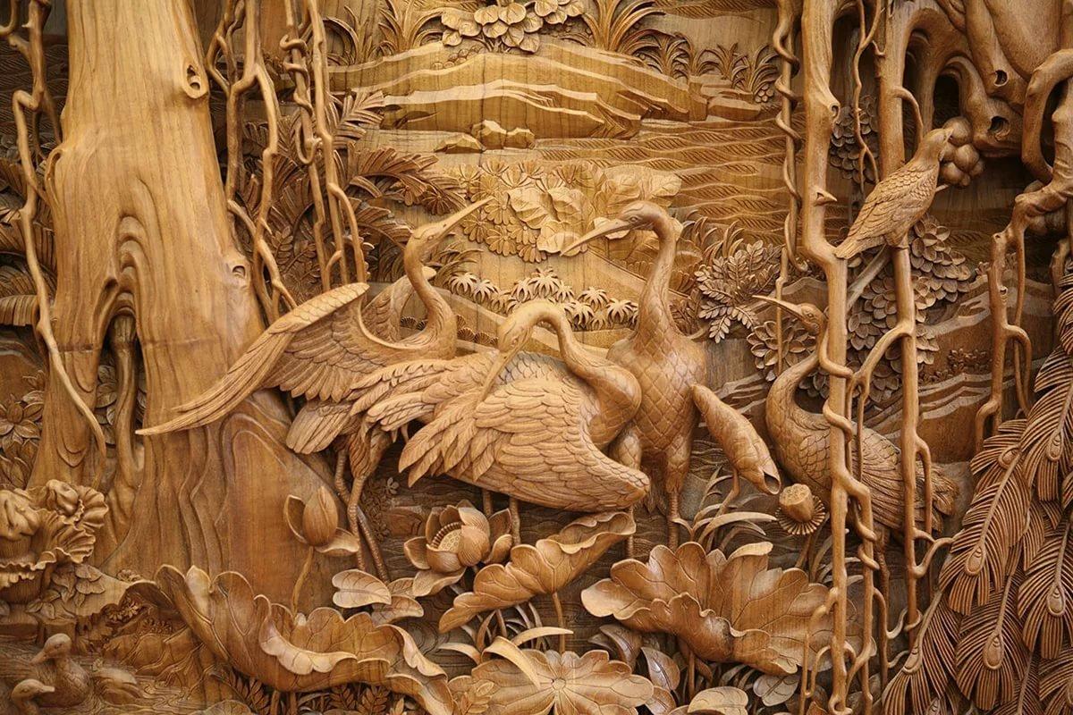 Картинка с резьбой по дереву