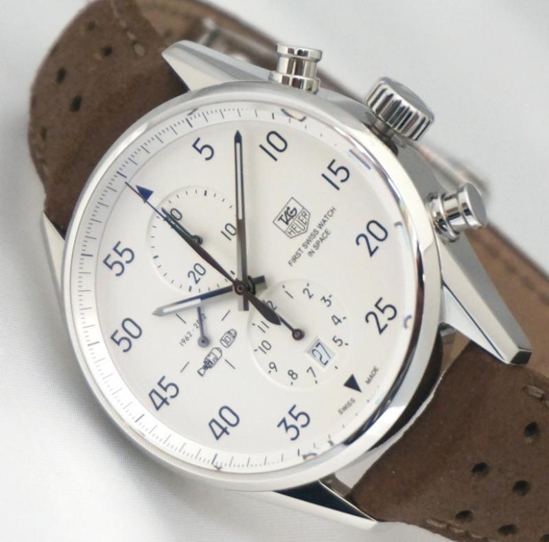 Марка: tag heuer коллекция: carrera space x limited edition , cal модель: мужские швейцарские механизм: механизм: eta , кварцевый хронограф.