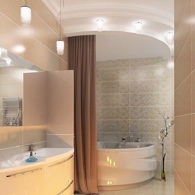 . Как правильно сделать освещение в ванной
