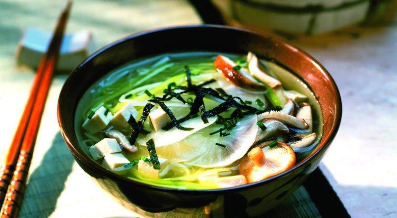 Сытный мисо-суп с тофу