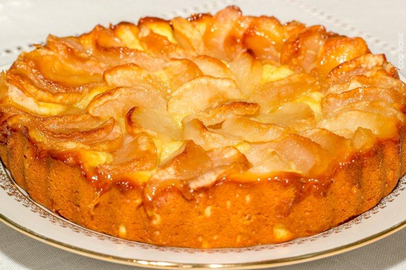 яблочно творожный пирог рецепт-хв10
