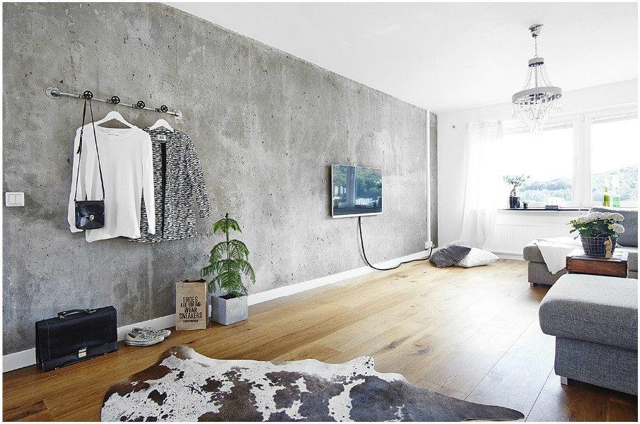 имитация бетона в интерьере
