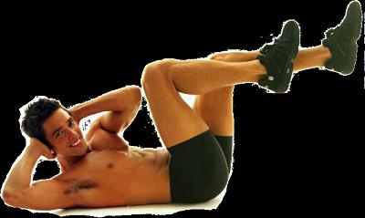 Лежа на спине, обхвати руками затылок, а локти отведи назад. Из этого положения подтяни правое колено к груди и одновременно подведи к нему левый локоть, а затем плавным движением соедини левое колено с правым локтем
