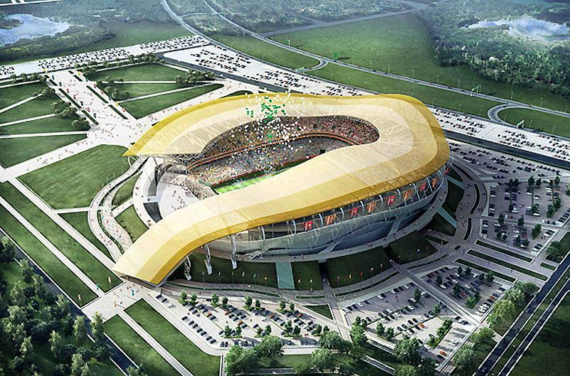 Стадионы к чемпионату мира 2018 на данный момент