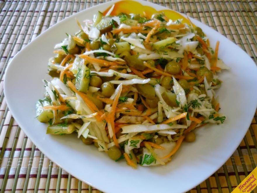 салат с капустой легкий рецепт