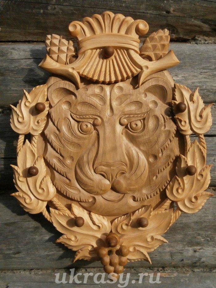 """Панно деревянное """"Амурский тигр"""""""