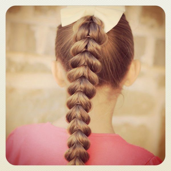 Картинки коса у девочки