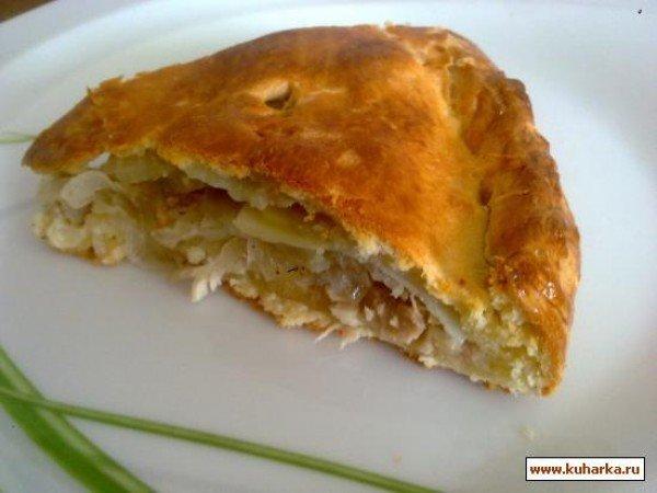 Как приготовить курник с мясом и картошкой