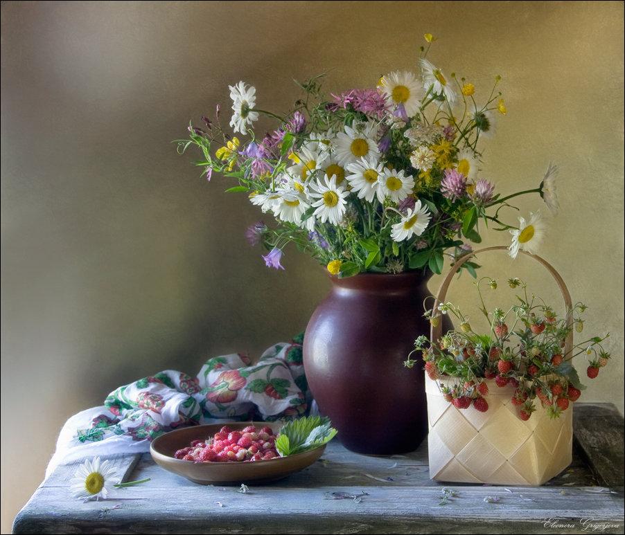 картинки натюрморты с полевыми цветами фотографиям