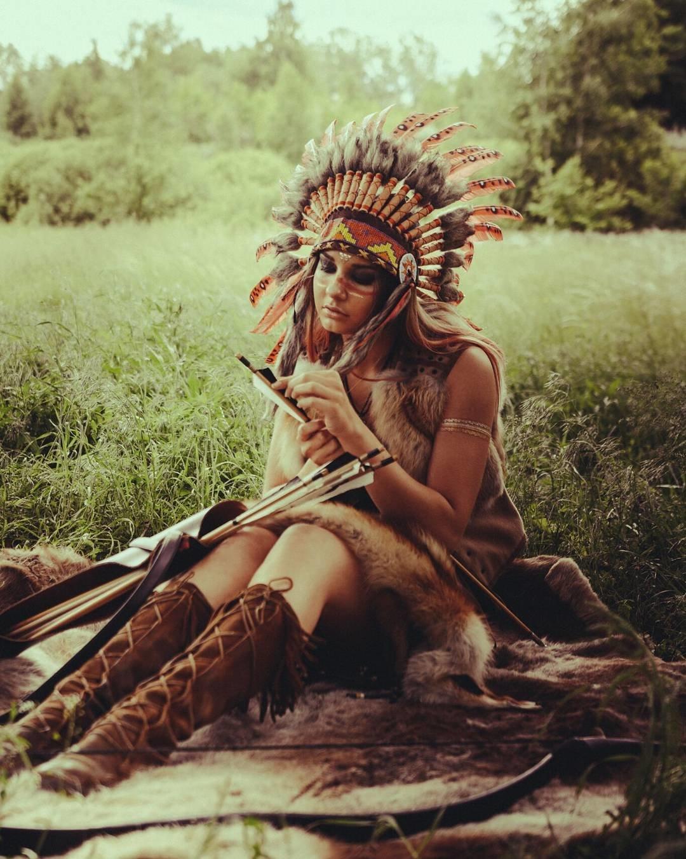 Фотосессия в роли индейца